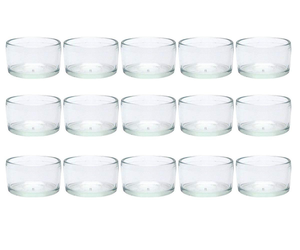 Typ 025 Glasdose Glasgef/ä/ß Tischdeko Teelichtgl/äser Hochzeitsdeko 12 St/ück 8//12//24 teilig Rund Hochwertiges Glas hocz  Teelichtgl/äser Windlicht Set