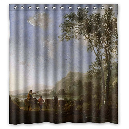 Eyeselect The Albert Bierstadt Art Painting Bath Curtains Of Polyester Width X Height / 66 X 72 Inches / W H 168 By 180 Cm Decoration Gift For Lover Boys - Angeles Eyeglass Frames Los