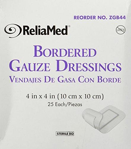 Bordered Gauze, 4 X 4, Latex-Free, Sterile 25/Bx