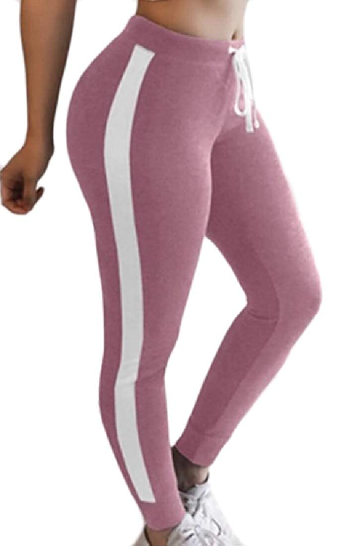 Sweatwater Womens Running Gym Strings Active Pants Track Ankle Leggings