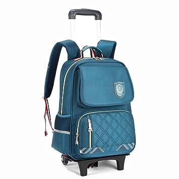 Mochila Trolley para Niños Mochila Desmontable De Dos Ruedas para Hombres Y Mujeres. (Color : Azul Claro): Amazon.es: Equipaje