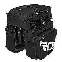 SmartLife Multi-function Outdoor Cycling Traveller Pannier Set ROSWHEEL Durable Waterproof Bicycle Bike Rear Seat Bag , 2 Side Bags+1 Top Bag