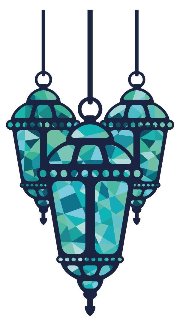 Wandtattoo Orient Wandsticker Orientalische Lampe mit grünem Licht orientalisch