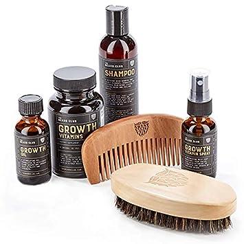 Advanced Beard Growth Kit | The Beard Club | Growth Vitamins, Beard Oil,  Shampoo, Beard