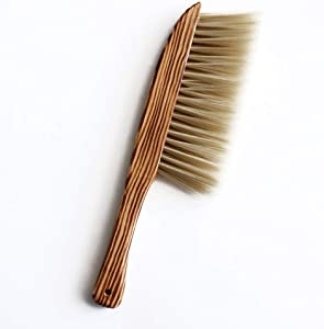 Hand Broom, BEST HOUSE Natural Wooden Soft Brush Dusting Brush Bedroom Broom Sofa Seat Cleaning Brush Anti-Static Cleaning Toolfor Cleaning Home Furniture Hotel Office Car