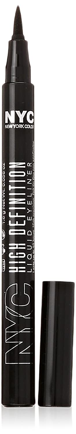 N.Y.C. New York Color High Definition Liquid Liner, Extra Black, 0.6 Fluid Ounce Coty 27888165889