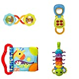 On The GO Baby Activity Toys Musical Bug, Crinkle Book, Rattle, Flip Phone