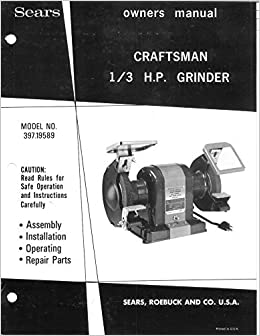 Brilliant Craftsman 397 19589 1 3Hp Bench Grinder 6 X3 4 X1 2 Lamtechconsult Wood Chair Design Ideas Lamtechconsultcom
