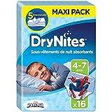 Huggies DryNites 4–7Jahre Jungen (17–30kg)–Unterwäsche Set Nacht saugstark für Kinder, die machen Pipi im Bett–X32Windelhosen (2Pakete Set von 16)
