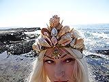 Easter Sale Seahorse Bohemian Mermaid Crown by Star Stuff Boutique Mermaid Headress, Gold Headdress, High Energy Mermraid Headpiece, Seahorse Tiara