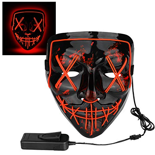 The Purge Halloween (Halloween Cosplay LED Light Mask)