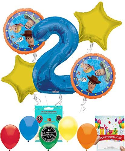 (Toy Story 4 Party Supplies Balloon Decoration Bundle with Birthday Card (2nd)