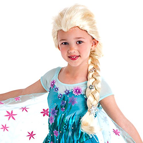 [Disney Frozen Silver Snowflakes Elsa Wig Exclusive Dress Up Toy] (Elsa Costume With Wig)