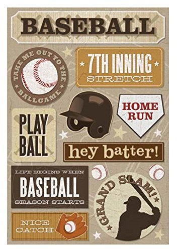 Karen Foster Cardstock 5-1/2 Inch by 9 Inch Stickers, 7th Inning Stretch