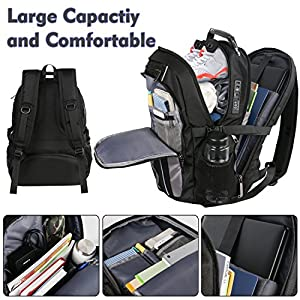 Travel Backpack with Lock,Large Business Durable Water-Resistant Laptop Backpack for Men Women,TSA Anti Theft School College Big Student Computer Bookbag with USB Port, Fits 17 Inch Laptop &Notebook