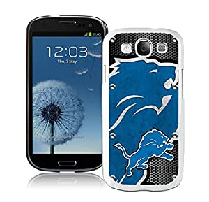 Beautiful Designed Case With Detroit Lions 04 White For Samsung Galaxy S3 I9300 Phone Case