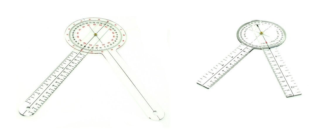 """12"""" & 8"""" PROTRACTOR GONIOMETER SET by AMS"""