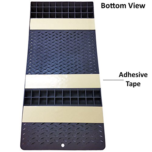 Electriduct Pair of Plastic Park Right Parking Mat Guides for Garage Vehicles, Antiskid Car Safety - Gray by Electriduct (Image #2)