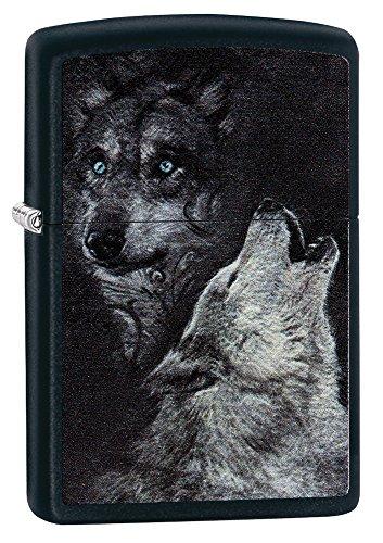 Zippo Wolf Mechero de Gasolina, latón, Aspecto de Acero Inoxidable, 1 x 6 x 6 cm