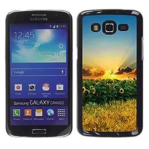 Exotic-Star ( Sunset Beautiful Nature 70 ) Fundas Cover Cubre Hard Case Cover para Samsung Galaxy Grand 2 II / SM-G7102 / SM-G7105