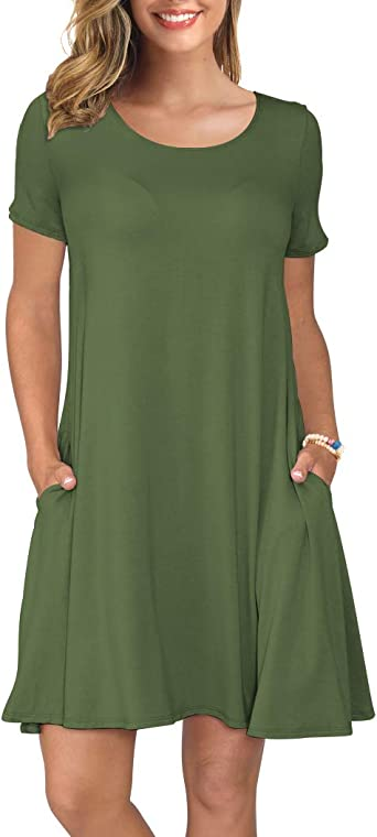 long t shirt dress with pockets