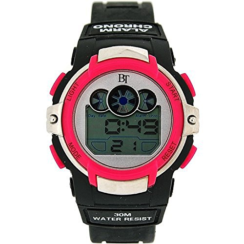 The Olivia Collection Childrens Digital Chronograph Black & Pink Sports Watch by The Olivia Collection