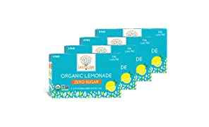 Leaf & Love | Organic | Sugar-Free | non-GMO | Lemonade | 6.75 Ounce (32 Count)
