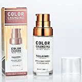 Concealer Cover,Flawless Colour Changing Foundation Makeup Base Nude Face Liquid Cover Concealer