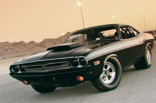 TST INNOPRINT CO Black Muscle Car Poster 24x36