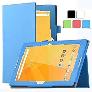 ELTD Acer Iconia One 10 B3-A20 Case - Slim Folio Leather Cover For Acer Iconia One 10 B3-A20 , blue by ELTD