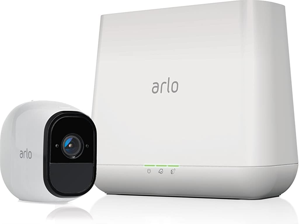 Arlo Pro Security System with Siren – 1 Rechargeable Wire-Free HD Camera with Audio, Indoor/Outdoor, Night Vision (VMS4130)