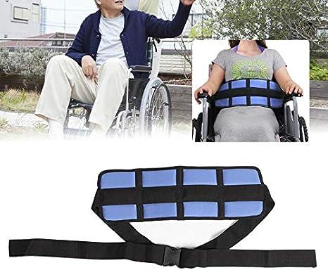 YAMEIJIA Respaldo Silla de Ruedas Seguridad para Silla de Ruedas Cinturón de la Cintura Pacientes Ajustables Cuidados Correa de Asiento para el Paciente Ancianos Ortopédicos