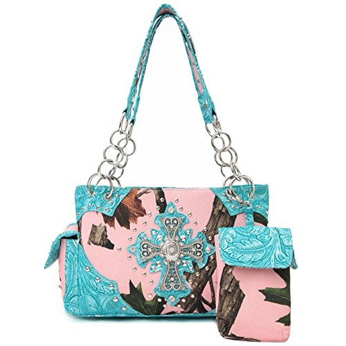 Avec Western Femme pour à main Turquoise Sac Style Only portefeuille Handbag femmes Cowgirl Trendy Bq4SwFW