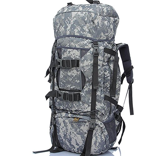 BUSL 80L montañismo al aire libre de gran capacidad bolsa Camo mochila mochila equipaje viaje . a a