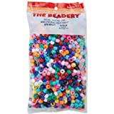 plastic beads for jewelry making - Beadery Pony Beads, 6 by 9mm, Opaque Multicolor, 900-Pack