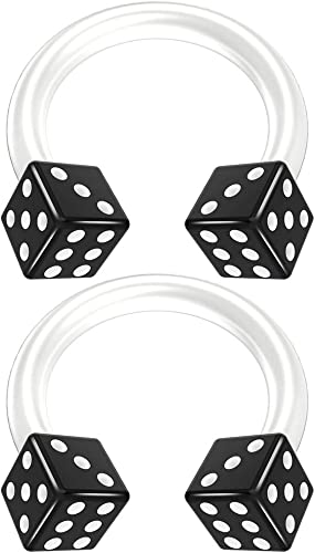 Amazon Com 2pc 14g Dice Flexible Bioflex Circular Barbell