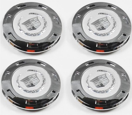 "CC25 9596649 07-12 Cadillac Escalade Set 4PCS Chrome Crest 22"" with 8"" Wheel Center caps 07 08 09 2010 2011 2012"