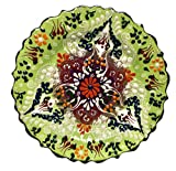 Nazar Turkish Imports ~ Hand Painted Ceramic Plate-d:7 inch-green