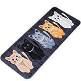 Molyveva Printed Bathroom Kitchen Rugs Doormats Cat Carpet For Living Room Non-slip Mats with Two Size