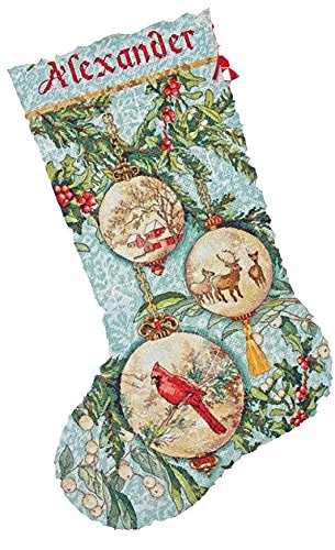 Dimensions Needlecrafts Counted Cross Stitch, Enchanted Ornament Stocking (Ornament People Christmas)