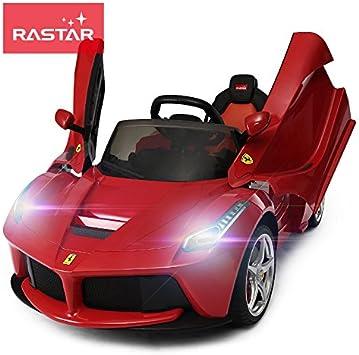 Ricco 82700 Rot Echte La Ferrari Kids 12 V Elektrische Ride On Car Mit Mp3 Und Fernbedienung Rot Amazon De Spielzeug