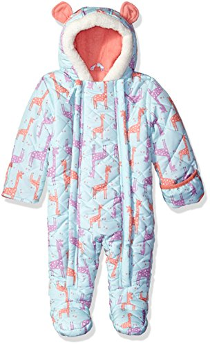 Wippette Baby Girls Giraffe Micro Fiber Pram, Mint, 9 Months