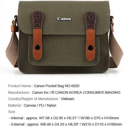 Canon D-SLR RF Mirrorless Pocket Shoulder Bag Case 6520 Khaki for Lens EOS M M2 M3 100D 400D 450D 500D 550D 600D 650D 700D 750D 51RHPykkxZL