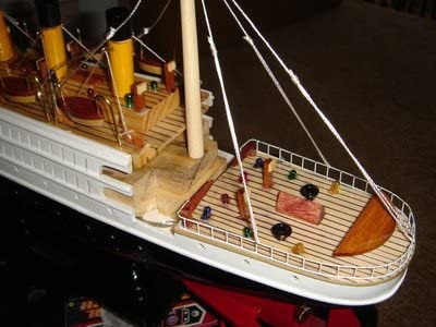 Titanic wooden model cruise ship with flashing light 16/""