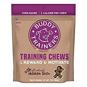 Buddy Trainers Dog & Puppy Training Treats, Chewy Dog Treats with Real Chicken Liver (7 oz.)