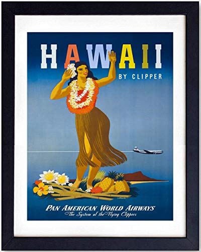 Hawaii Travel Poster Vintage Wall Art Print - 8x10 Unframed Photo - Makes a Great Gift - Chic Home Decor (Poster Hawaii Travel)