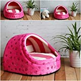 1 Pcs Powerful Popular Pet Half Covered Bed Size M Cat Pad Rug Cozy House Warm Sofa Color Type Rose Pink