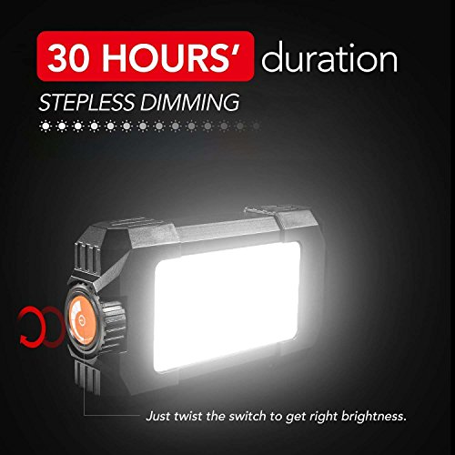Morefri Rechargeable Lantern,Camping Lights with 5400mAh Battery Stepless dimming SOS Strobe IP44 Weather Proof