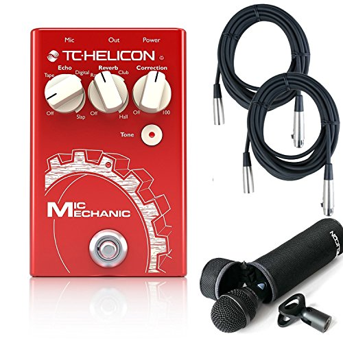 TC-Helicon Mic Mechanic Vocal Effects Pedal w/TC Helicon MP-75 Microhpone and 2 FREE (20') XLR Cables by TC ELECTRONIC
