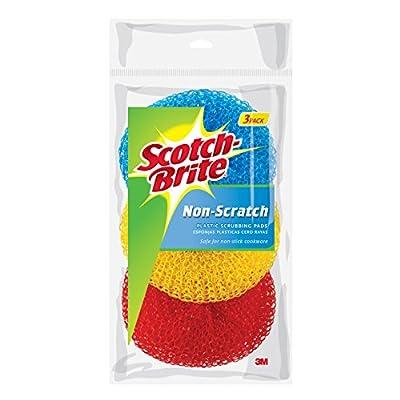 Scotch-Brite Non-Scratch All Surface Plastic Scrubbing Pads, Assorted Colors, 3-Pads